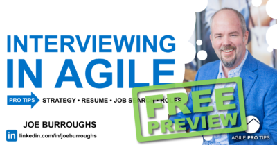FREE Preview of Interviewing in Agile a course on landing agile roles